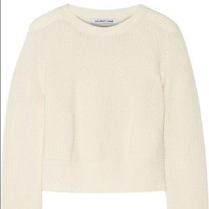 Helmet Lang cropped ribbed sweater (wool/cashmere)
